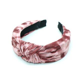 Headband in Crushed Velvet Dusky Rose by Pom925 | Restoration Yard