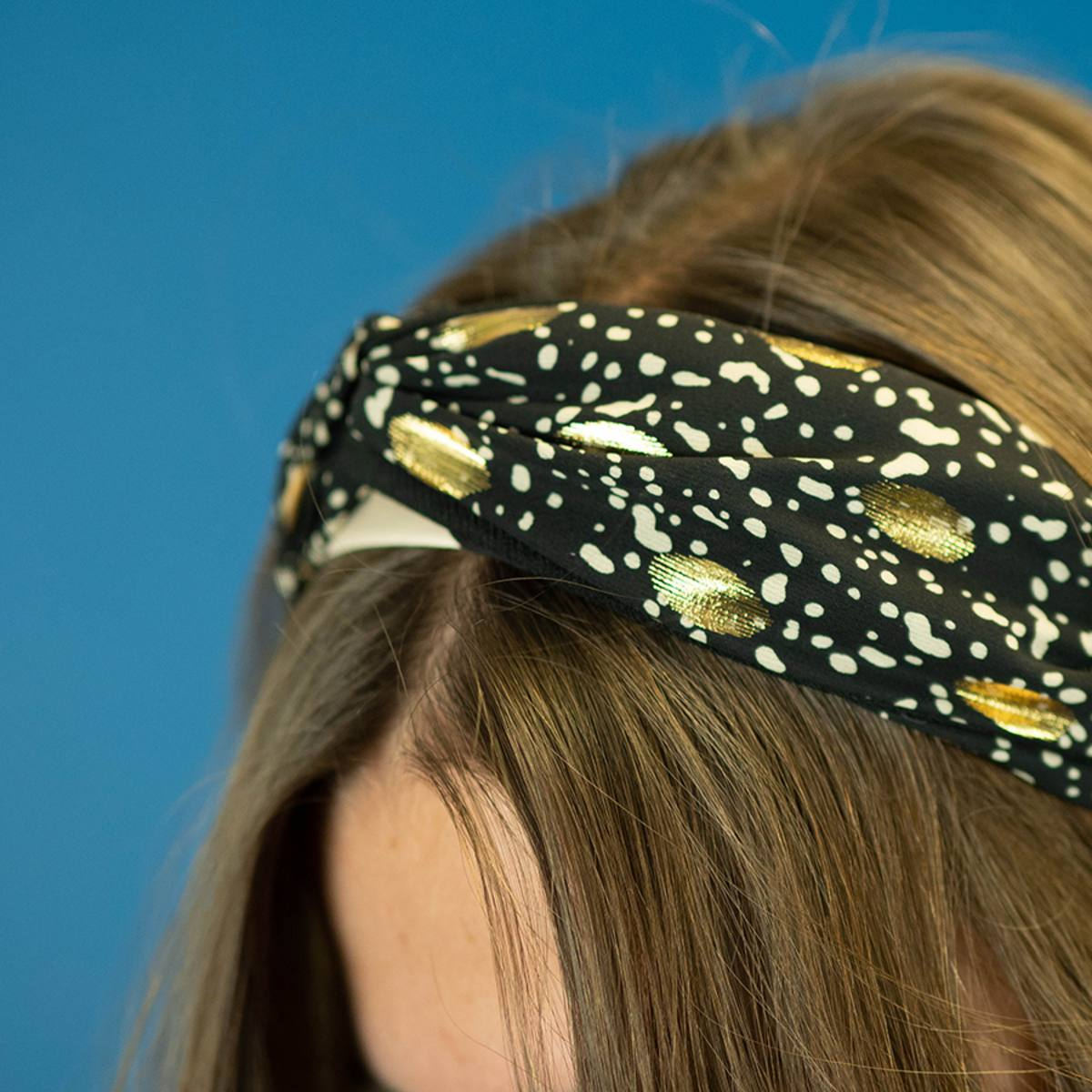 Headband in Black Gold Foil Print by Pom925 | Restoration Yard