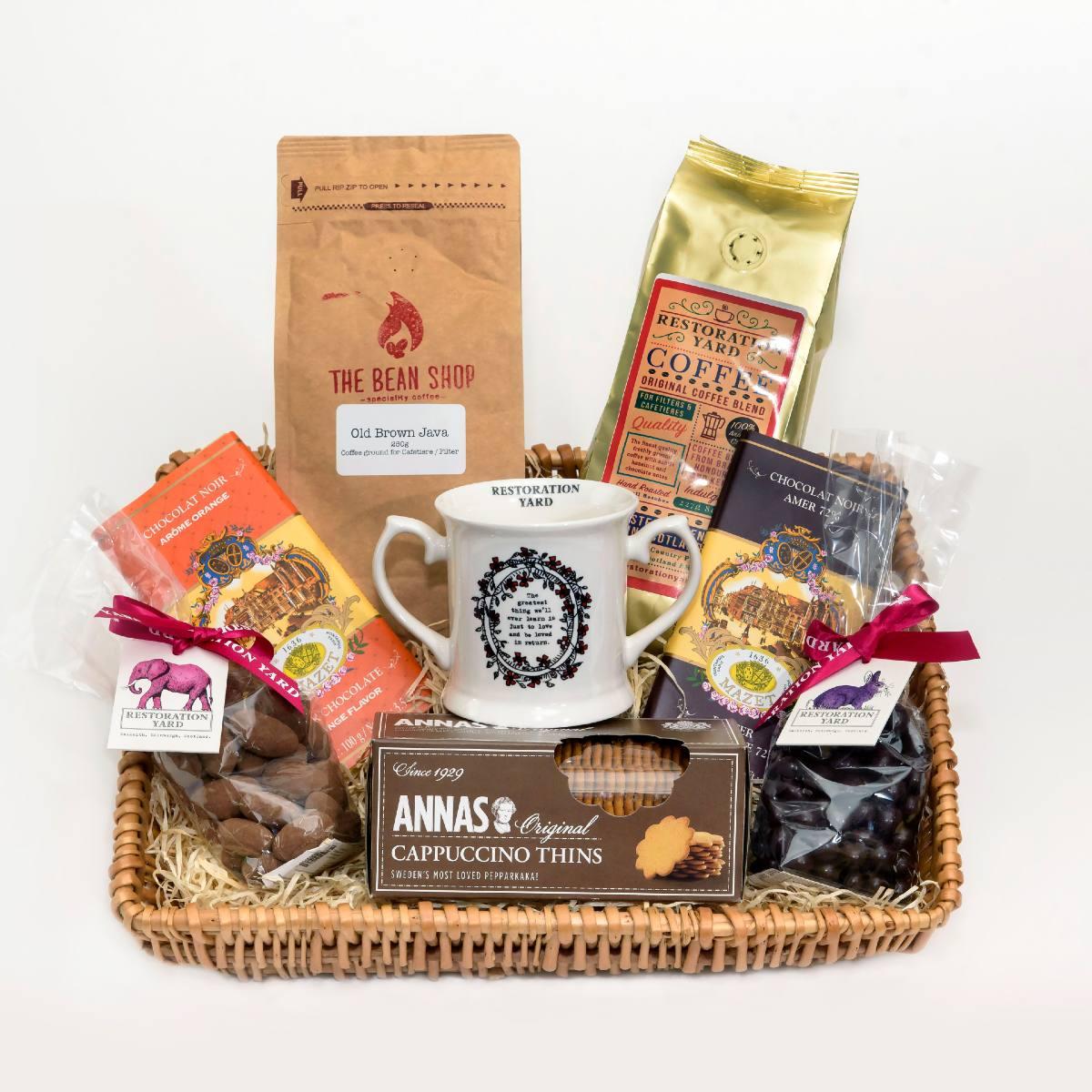 For The Love of Coffee Medium Hamper | Restoration Yard