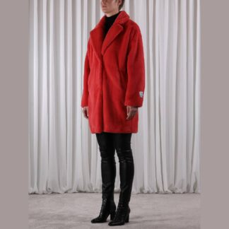 Faux Fur Coat Cranberry by Rino Pelle   Restoration Yard