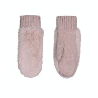 Faux Fur Gloves Blush Pink by Rino Pelle | Restoration Yard