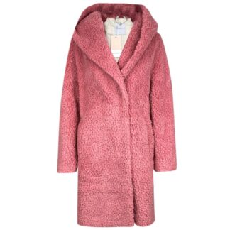 Rino Pelle Hooded Teddy Coat Bubblegum | Restoration Yard