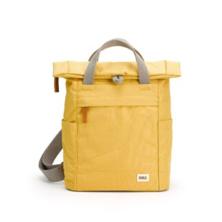 ROKA Finchley A Small Sustainable Backpack in Flax - Front | Restoration Yard