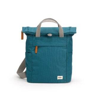 ROKA Finchley A Small Sustainable Backpack in Marine - Front | Restoration Yard