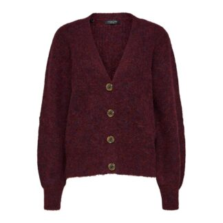 Kai Rib Knit Cardigan Winetasting by Selected Femme | Restoration Yard