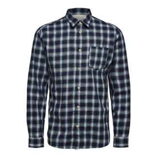 Shirt Dark Blue Check by Selected Homme | Restoration Yard