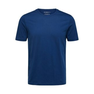 O-Neck T-Shirt Estate Blue by Selected Homme | Restoration Yard