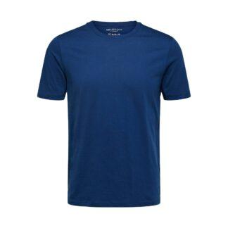 O-Neck T-Shirt Estate Blue by Selected Homme | Restoration Yard