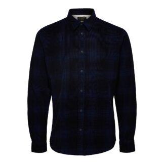 Organic Fine Cord Dark Blue Shirt by Selected Homme   Restoration Yard