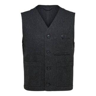 Waistcoat Grey Herringbone by Selected Homme | Restoration Yard