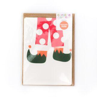 Elf Legs Christmas Cards Pack by Caroline Gardner | Restoration Yard