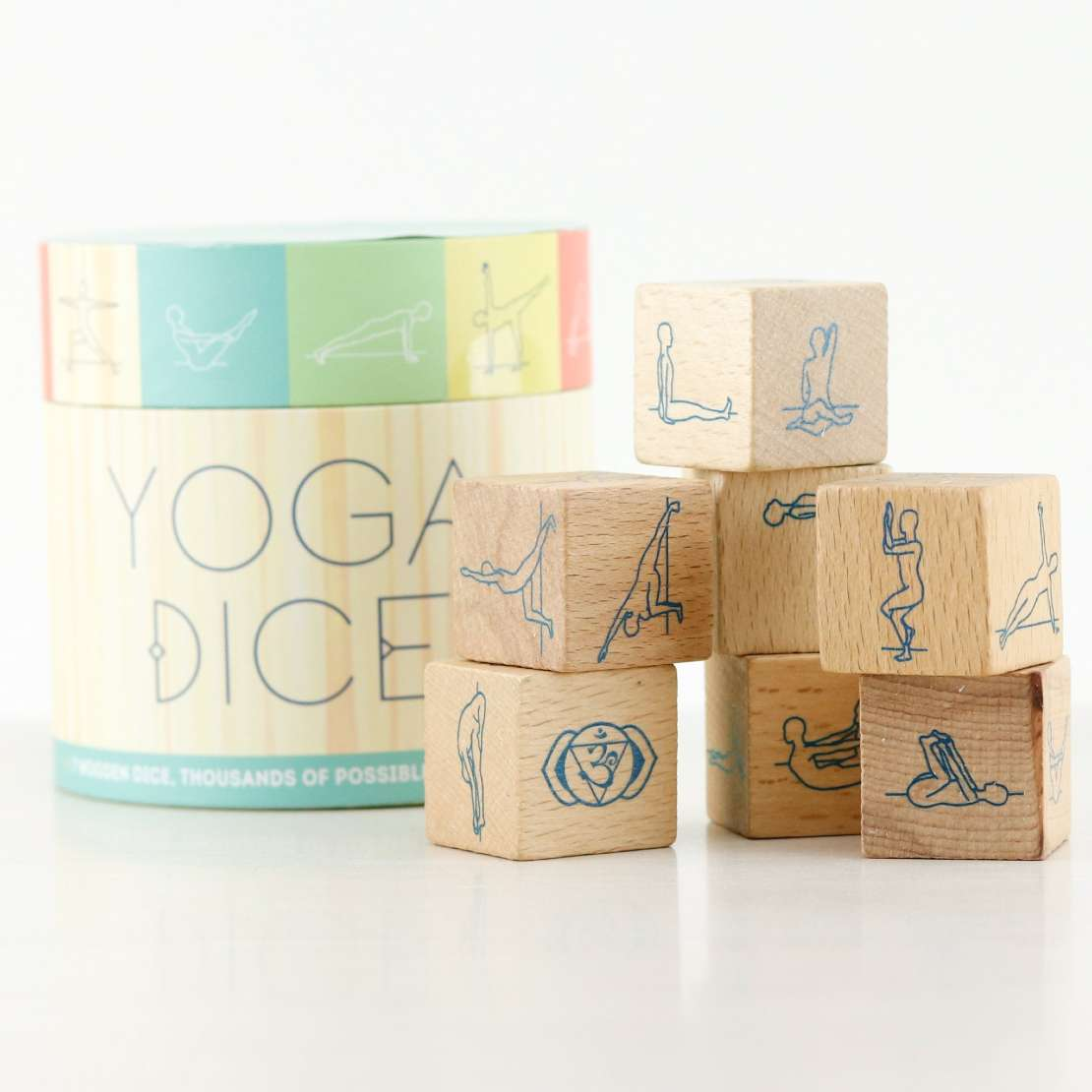 Try our Yoga dice for a wellbeing moment