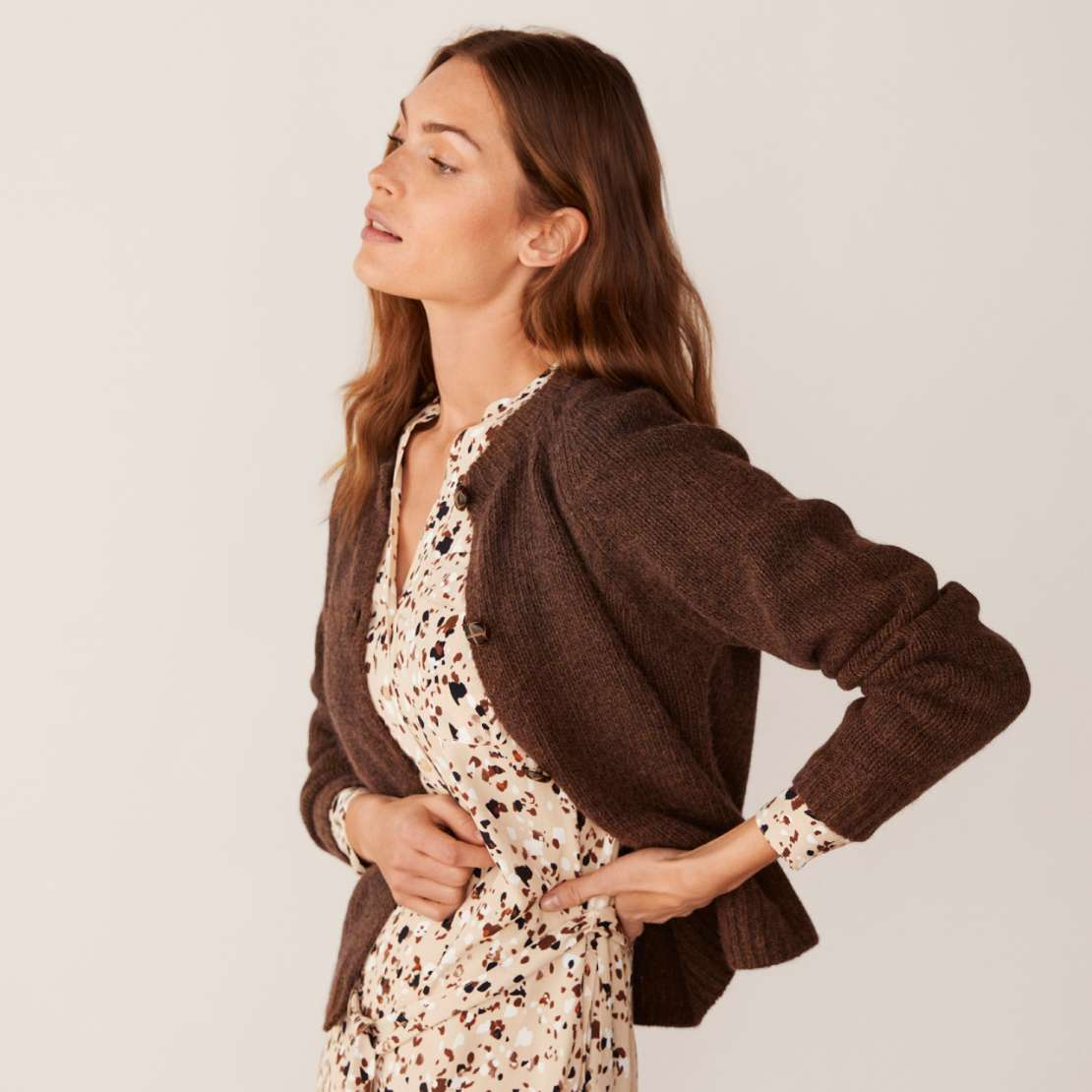 Forest Brown Else Cardigan by Part Two - Top 10 Sale' Picks