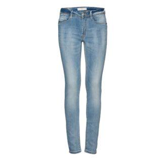 Erin Izaro Light Blue Bleached Jeans by ICHI | Restoration Yard