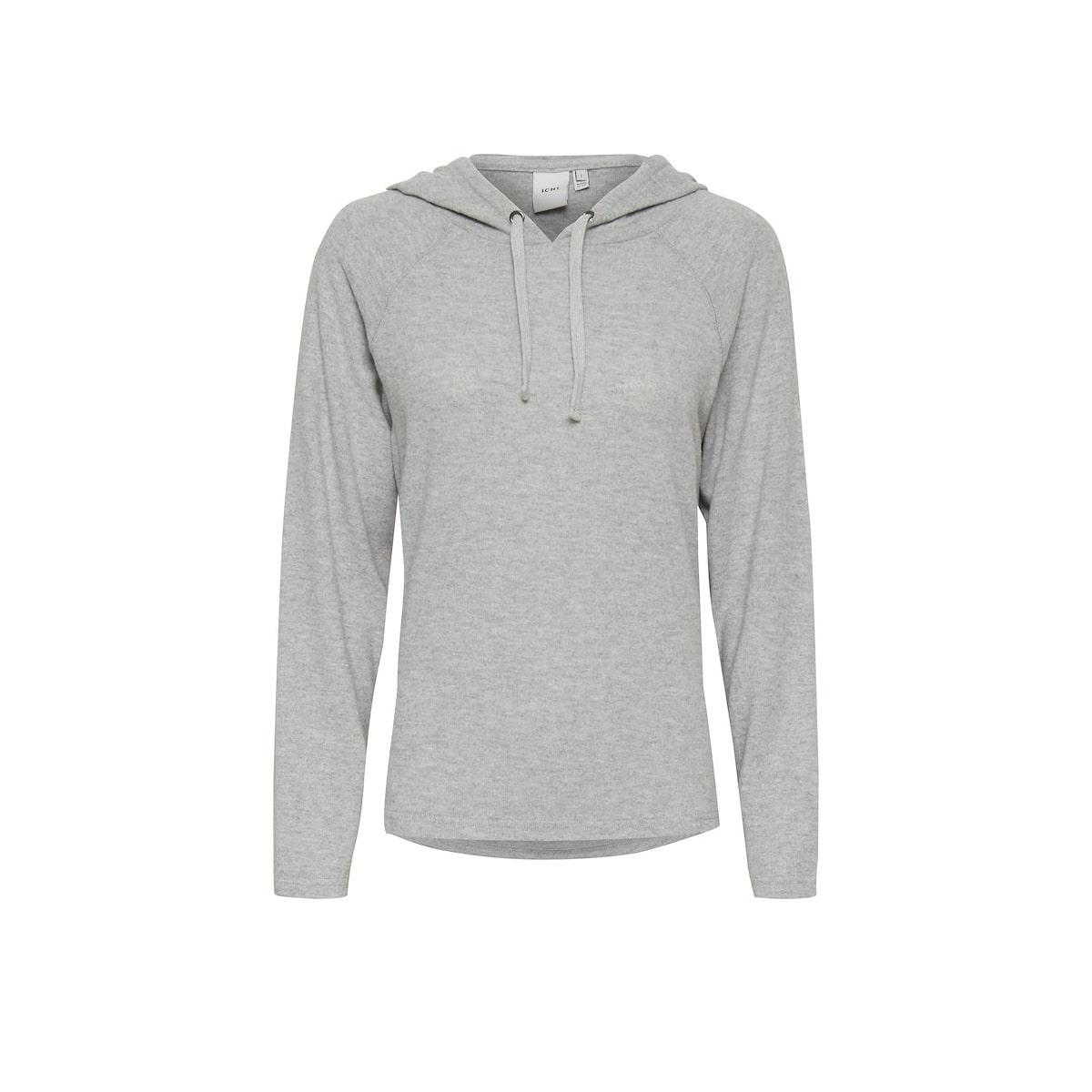 Ihyose Hooded Grey Sweat Shirt by ICHI   Restoration Yard