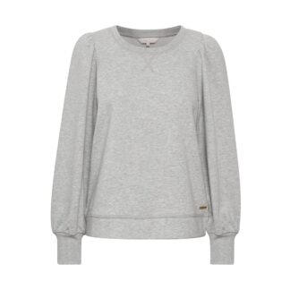 Gisa Grey Melange Sweatshirt by Part Two | Restoration Yard