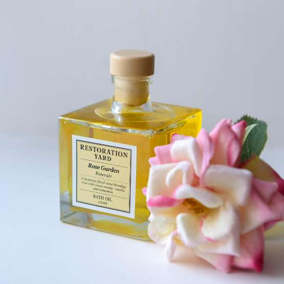 Restoration Yard Beauty & Wellness Collection Rose Garden Bath Oil is one of our best unexpected Mother's Day gifts