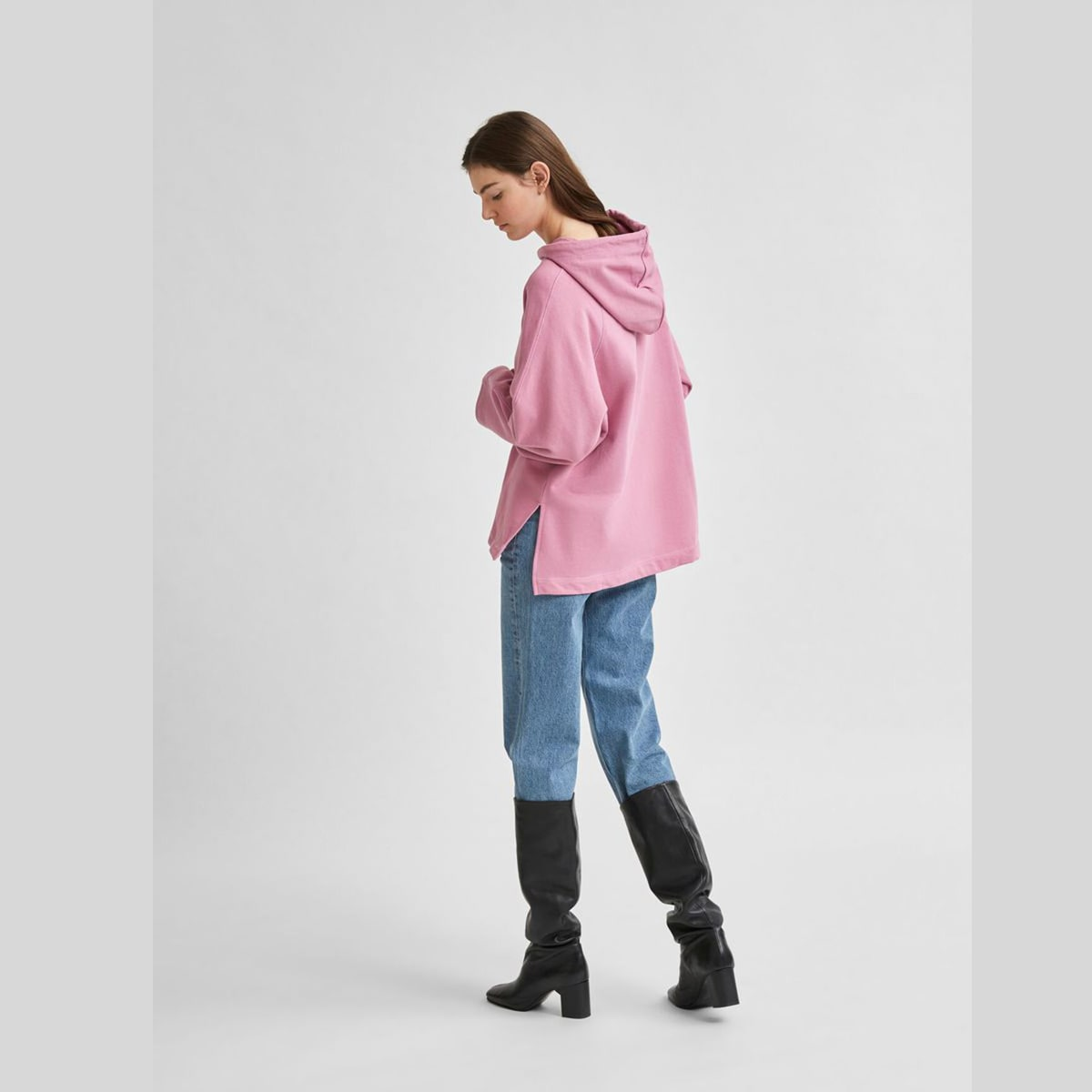 Hooded Sweatshirt Opera Mauve by Selected Femme | Restoration Yard