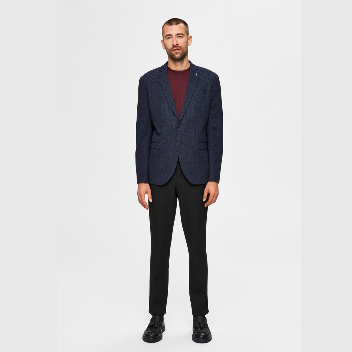 Taylor Navy Blazer by Selected Homme | Restoration Yard