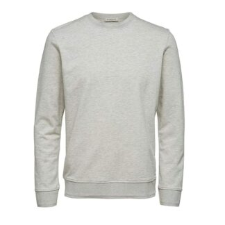 Bono Crewneck Sweater Egret Selected Homme | Restoration Yard