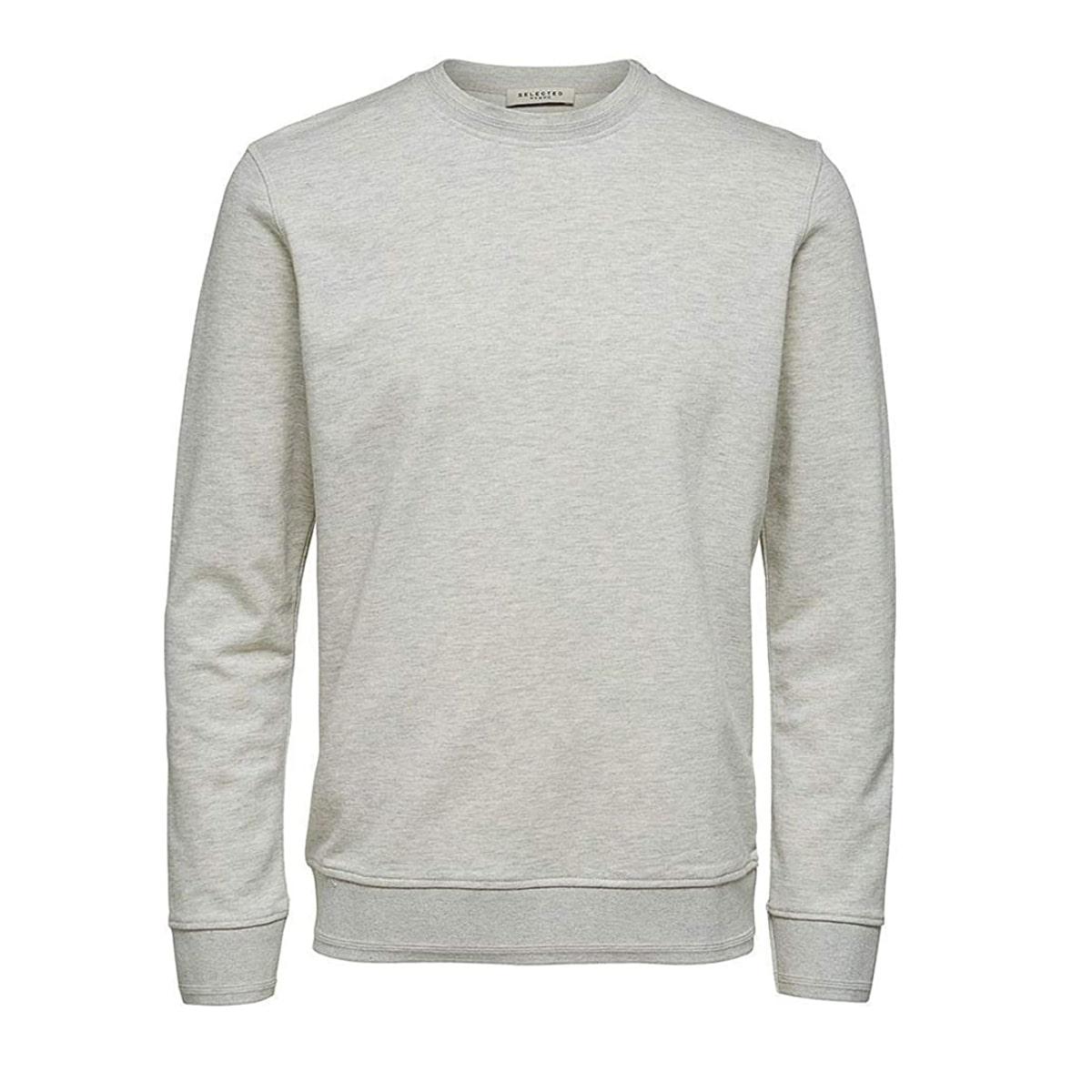 Bono Crewneck Sweater Egret Selected Homme | Restoration Yard