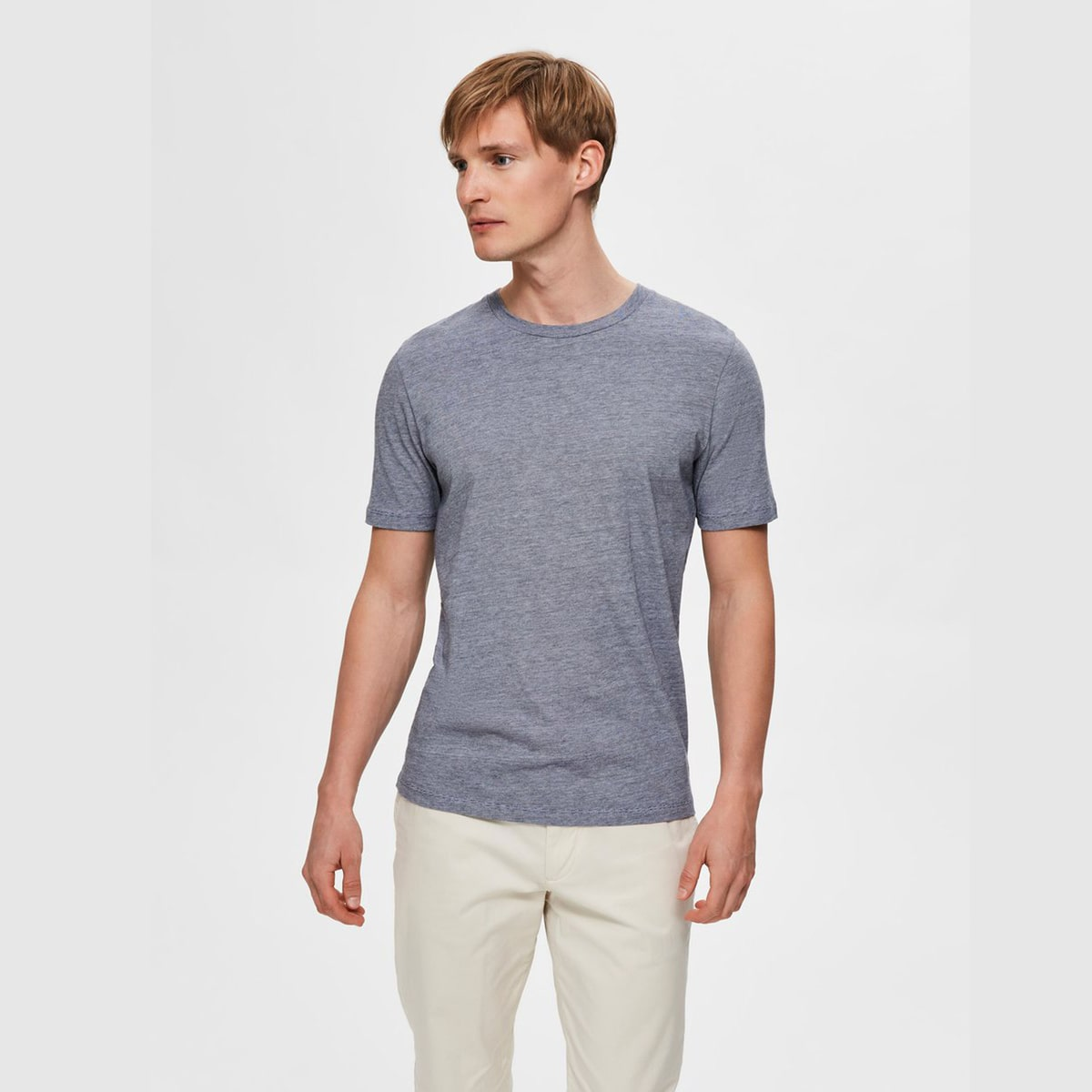 Sade O-neck Tee Sky Captain by Selected Homme   Restoration Yard