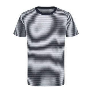 Stripe T-Shirt White Dark Sapphire by Selected Homme | Restoration Yard