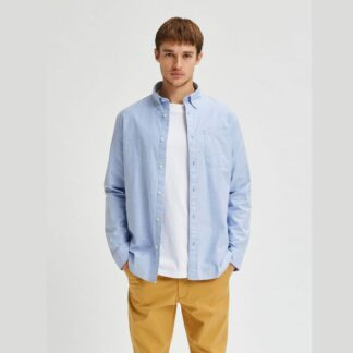 Flex Light Blue Shirt by Selected Homme | Restoration Yard