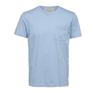Jared Tee Cashmere Blue by Selected Homme | Restoration Yard