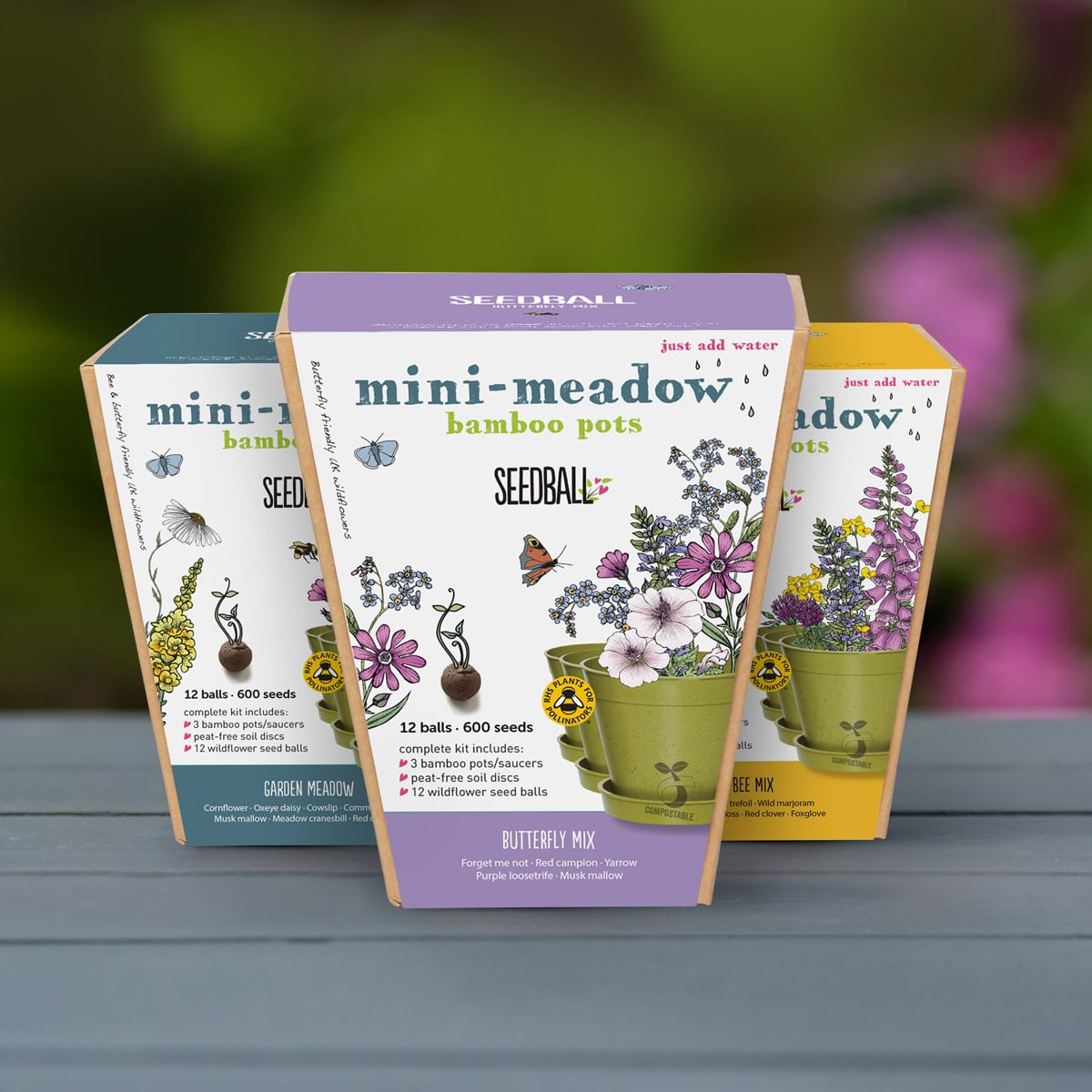 Mini Meadow Seedball Bee Mix by Seedball | Restoration Yard