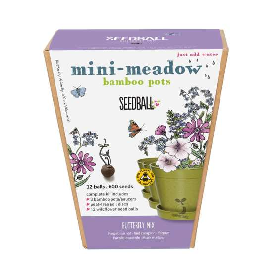Mini MEadow Seedball Butterfly Mix