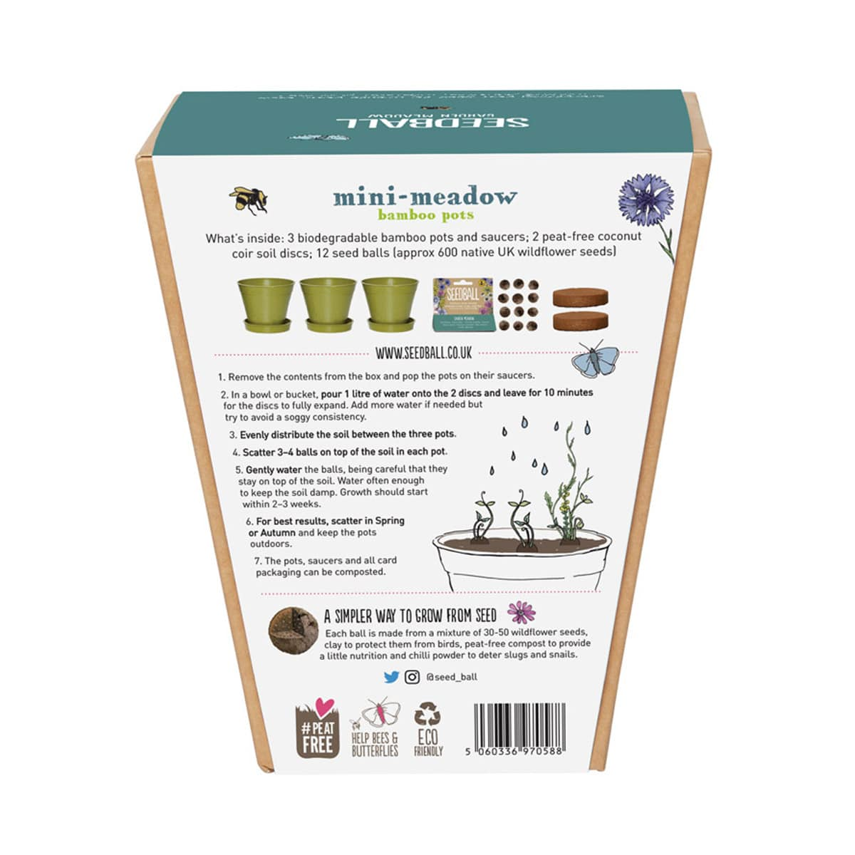 Mini Meadow Seedball Butterfly Mix by Seedball | Restoration Yard