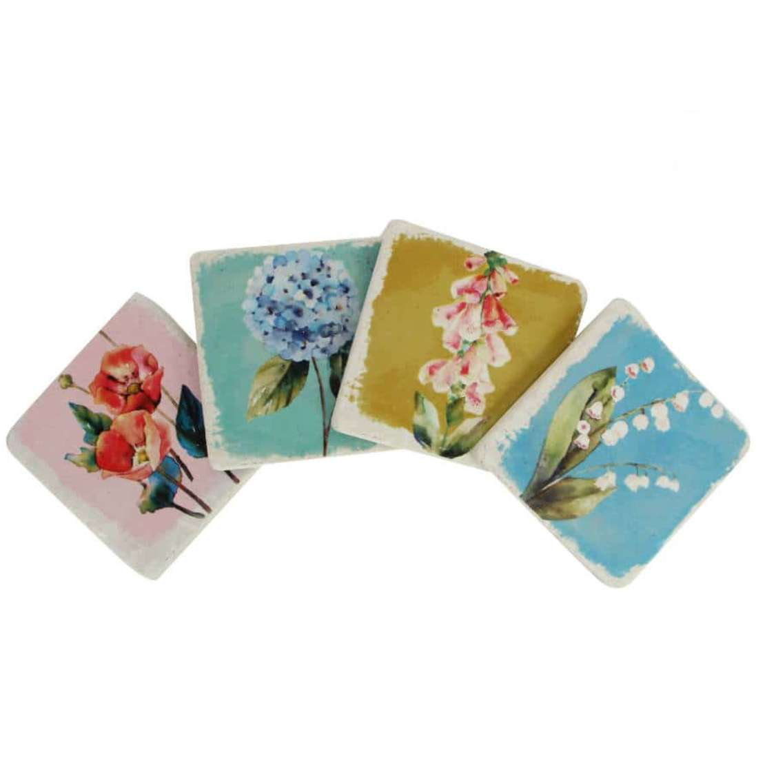 Pretty floral coasters by Gisella Graham