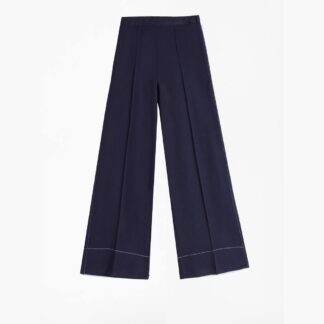 Beatriz Navy Culotte Trouser by Vilagallo | Restoration Yard