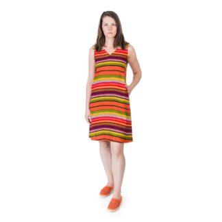 Orange Stripe Midi Dress by Happy Few | Restoration Yard
