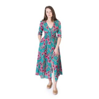 Long Fuchsia Flower Dress by Happy Few | Restoration Yard