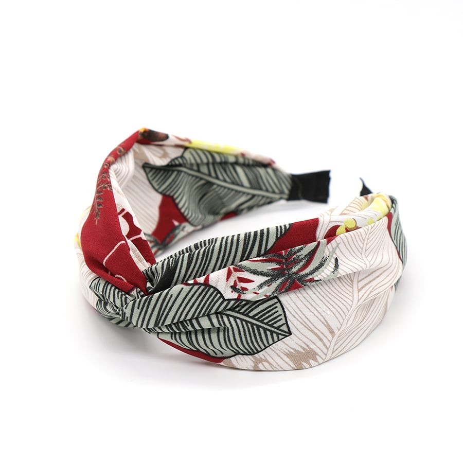 Deep Red Mix Botanical Print Headband by POM | Restoration Yard