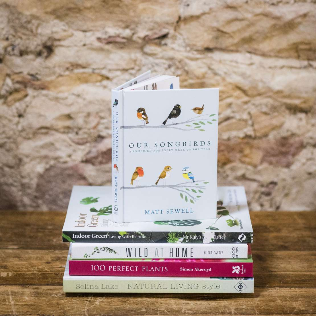 Selection of garden books at Restoration Yard