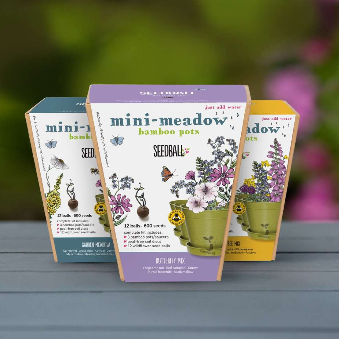 Mini Meadow Bamboo pots at Restoration Yard - best garden lover gift