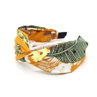 Mustard Mix Botanical Print Headband by POM | Restoration Yard