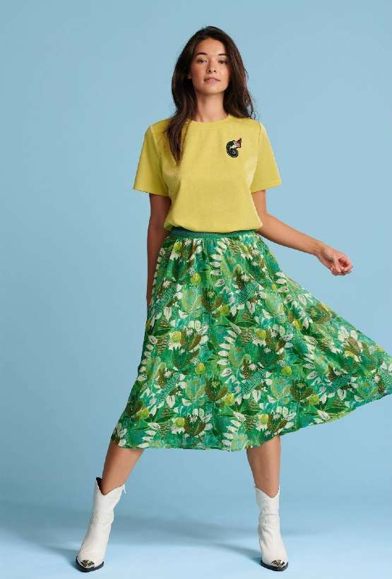 Pom amsterdam Jungle Beats Green Skirt