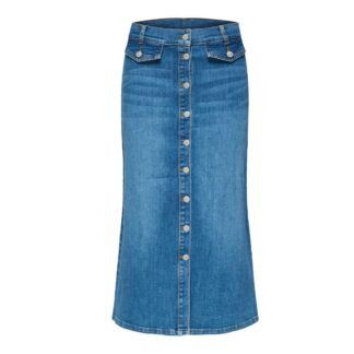 Fasly Light Blue Denim Skirt by Selected Femme | Restoration Yard