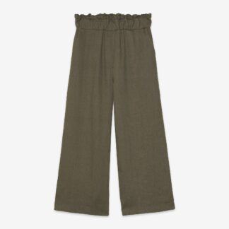 Crop Linen Military Trousers by Ottod'Ame | Restoration Yard