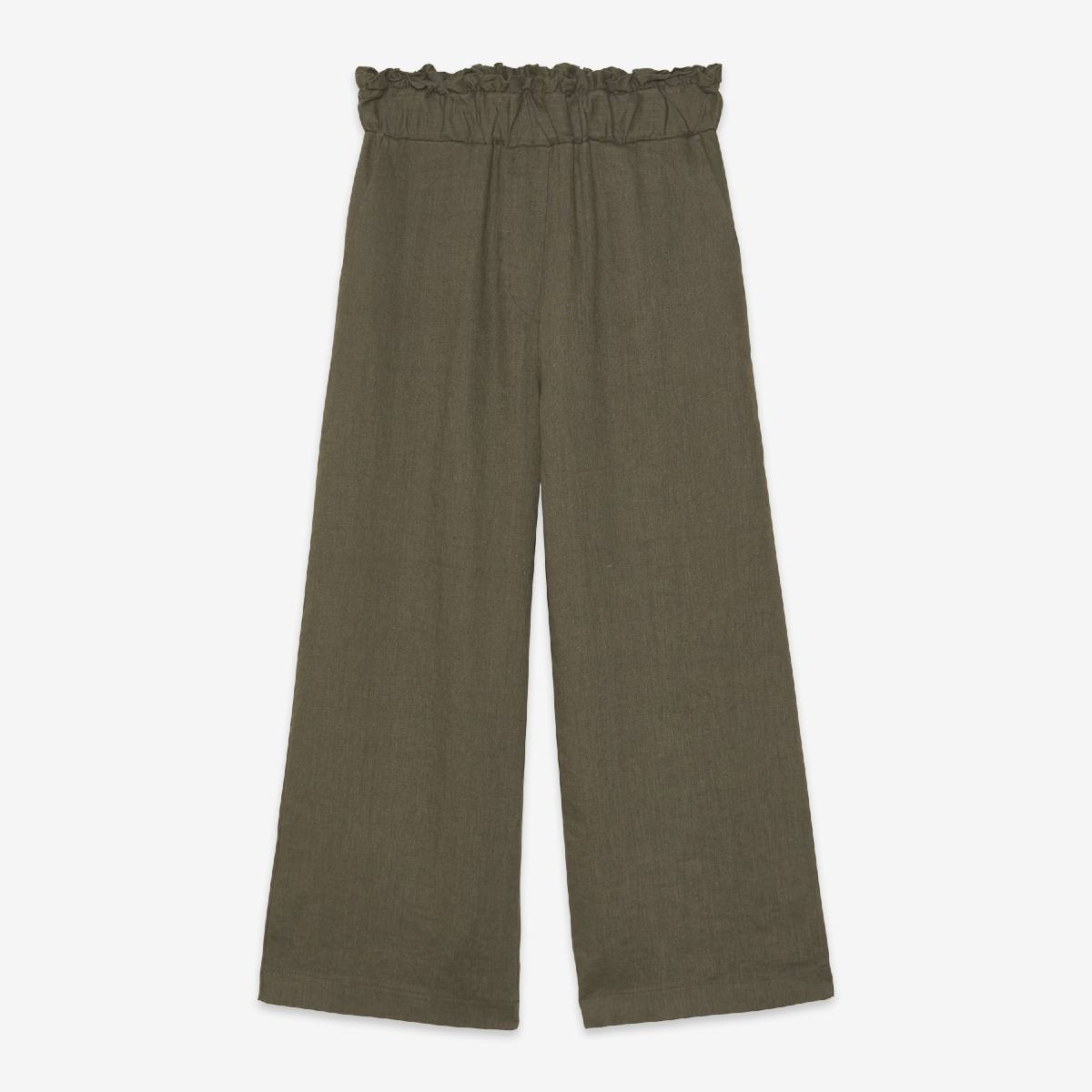 Crop Linen Military Trousers by Ottod'Ame   Restoration Yard