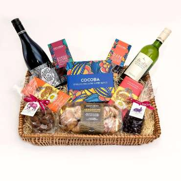 The Chocolate and wine lovers hamper