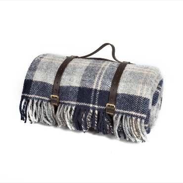 Tweedmill Navy Bannockbane Picnic rug