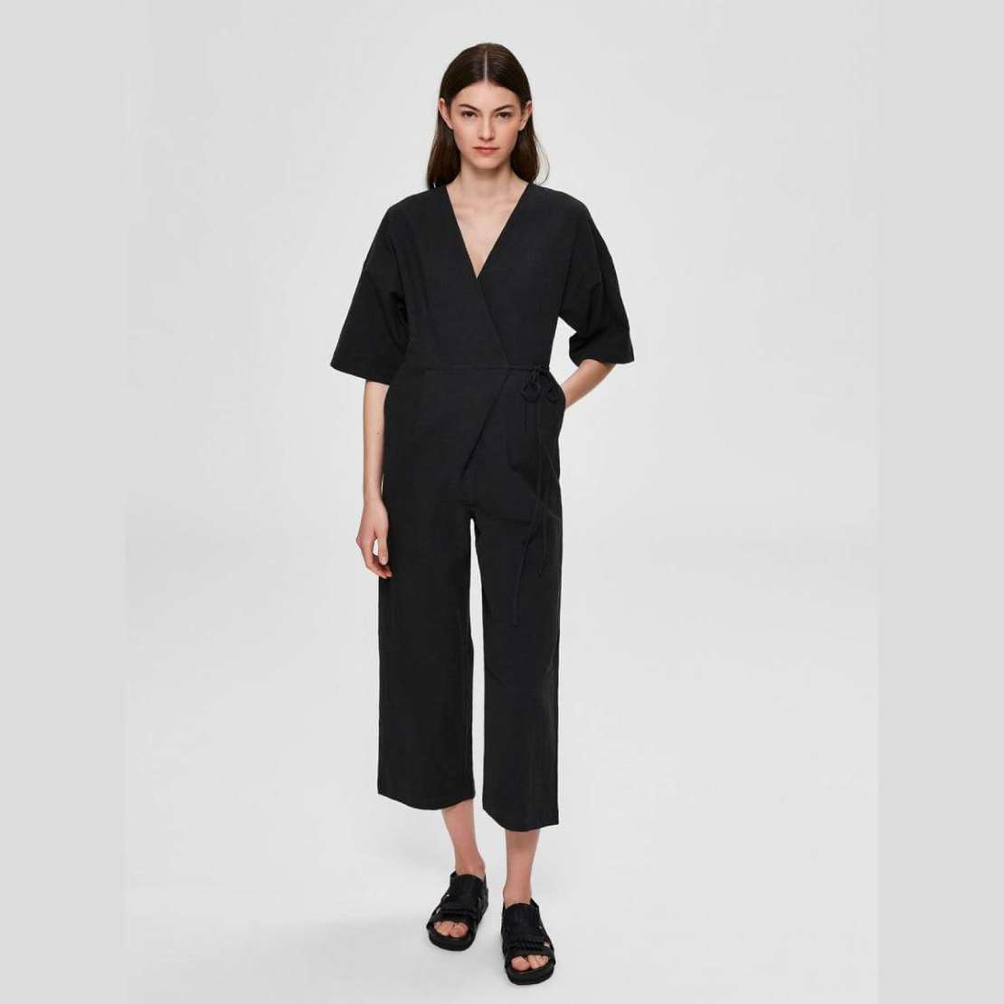 Selected Femme Black Jumpsuit