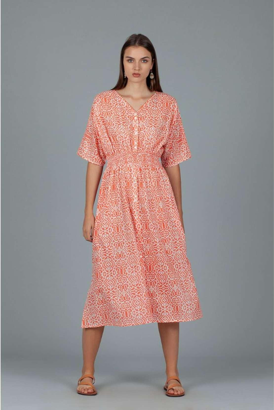Dream Hanoi Dress Coral Hot Summer Fashion