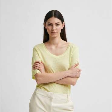 Selected Femme Lemon Yellow Knit