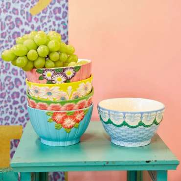 Rice Ceramic flower bowls
